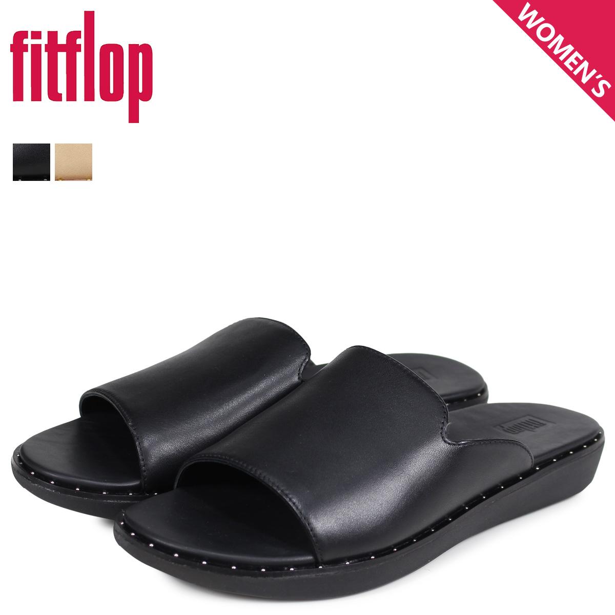 フィットフロップ FitFlop サンダル コンフォートサンダル サッフィ レディース SAFFI ブラック ベージュ 黒 U52 [3/20 新入荷]
