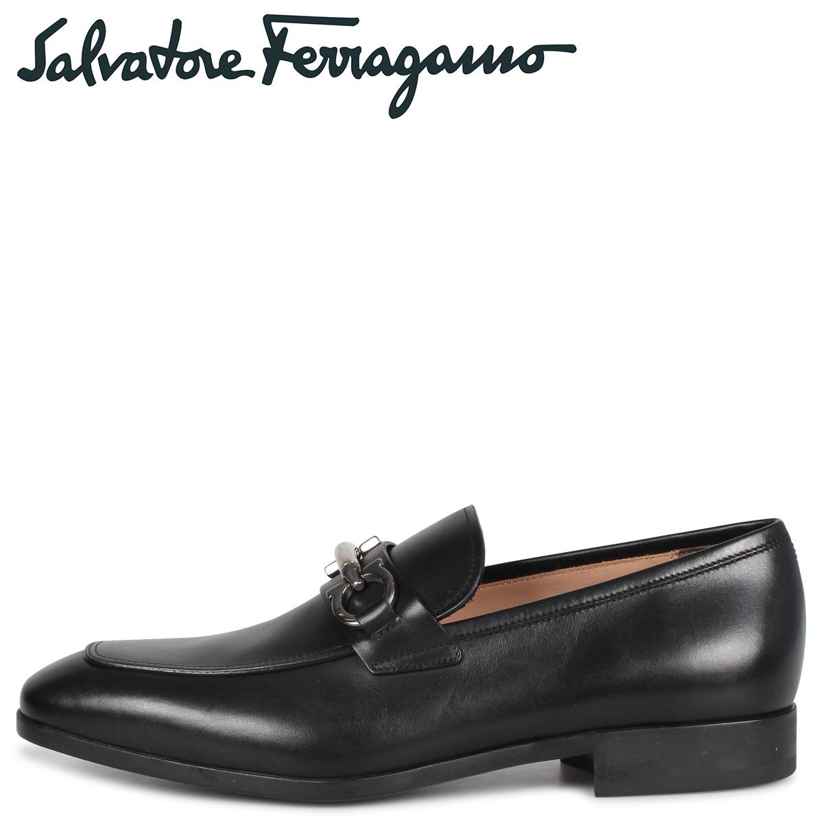 フェラガモ メンズ Salvatore Ferragamo ビットローファー モカシン シューズ BENFORD ブラック 黒 E 02B151 694854