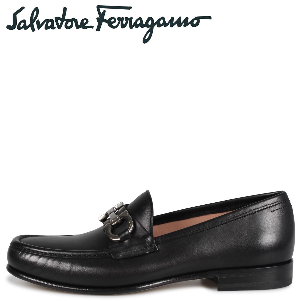 フェラガモ メンズ Salvatore Ferragamo ビットローファー モカシン シューズ BOND ブラック 黒 E 02B192 696001