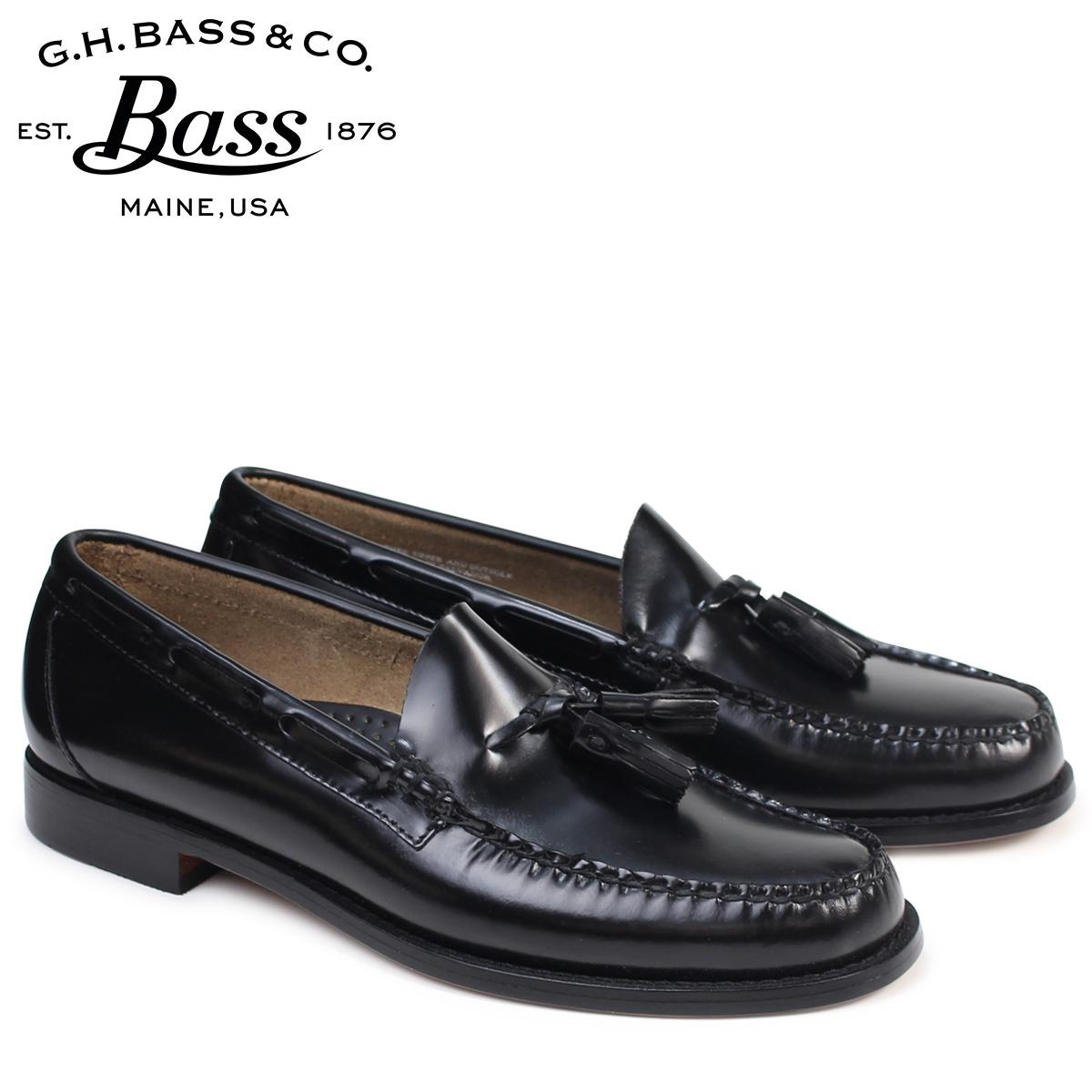 ジーエイチバス ローファー G.H. BASS メンズ ペニー タッセル LEXINGTON TASSEL WEEJUNS 70-10904 靴 ブラック [9/13 追加入荷]