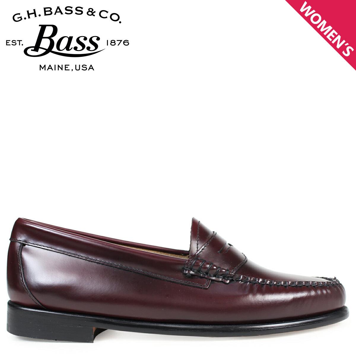 ジーエイチバス ローファー G.H. BASS レディース WHITNEY LOAFER 71-10339 靴 バーガンディー