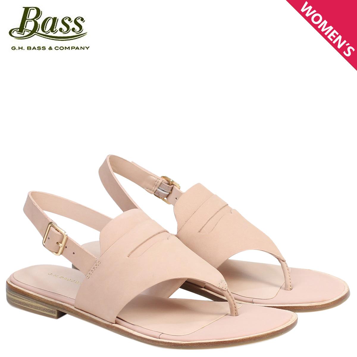 8aab5ff49f9 G.H. BASS sandals lady's G H bus tong ankle strap MADDIE THONG SANDAL  71-20,331 shoes pink