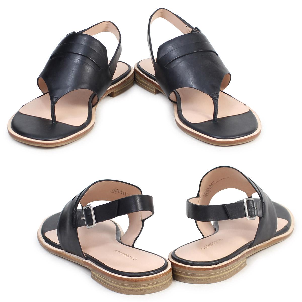 9fd45d70dde G.H. BASS sandals lady's G H bus tong ankle strap MADDIE THONG SANDAL  71-20,334 shoes black black