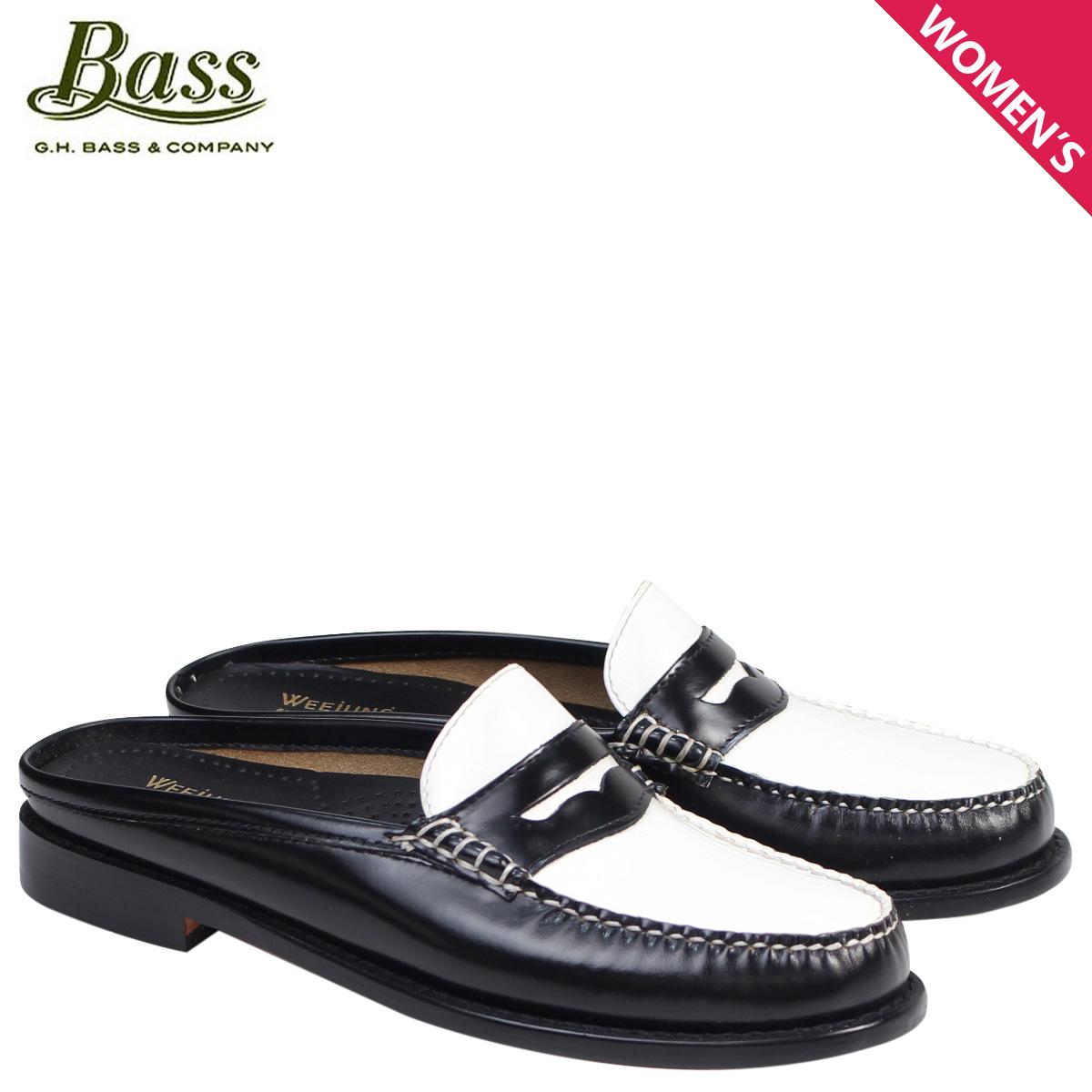 新作からSALEアイテム等お得な商品満載 G.H. BASS ローファー ジーエイチバス サンダル レディース 靴 サンダル スリッパ バブーシュ LEATHER WYNN PATENT LEATHER MULE WEEJUNS 71-22864 靴 ブラック ホワイト, シブシチョウ:cac8cc5f --- construart30.dominiotemporario.com