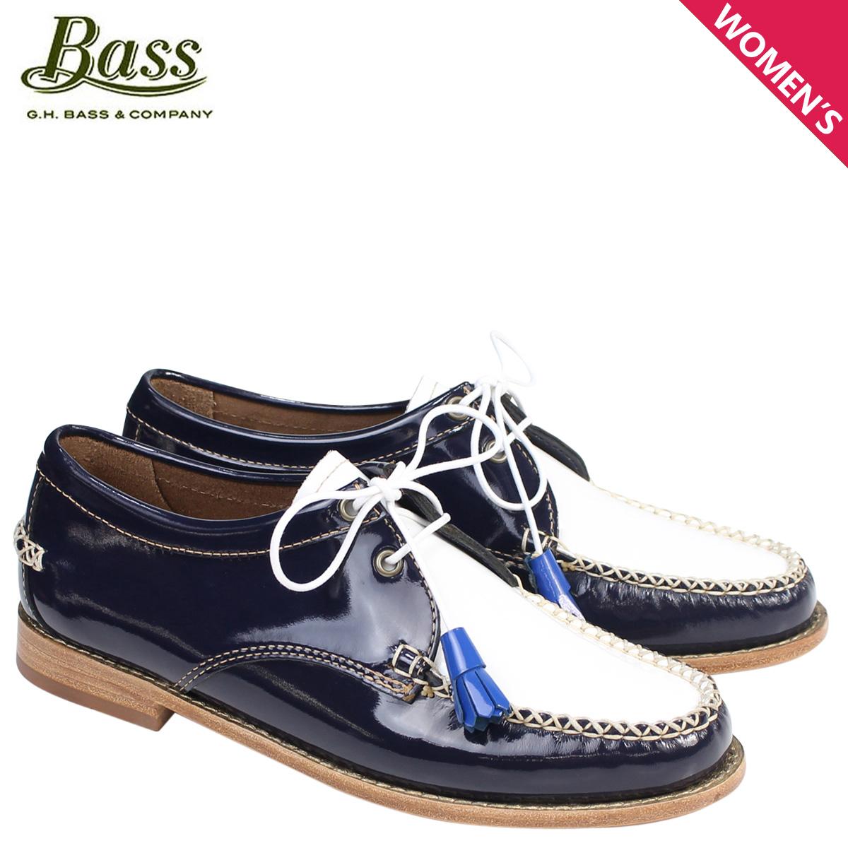 G.H. BASS ローファー ジーエイチバス レディース タッセル WINNIE TIE WEEJUNS 71-22875 靴 ネイビー ホワイト