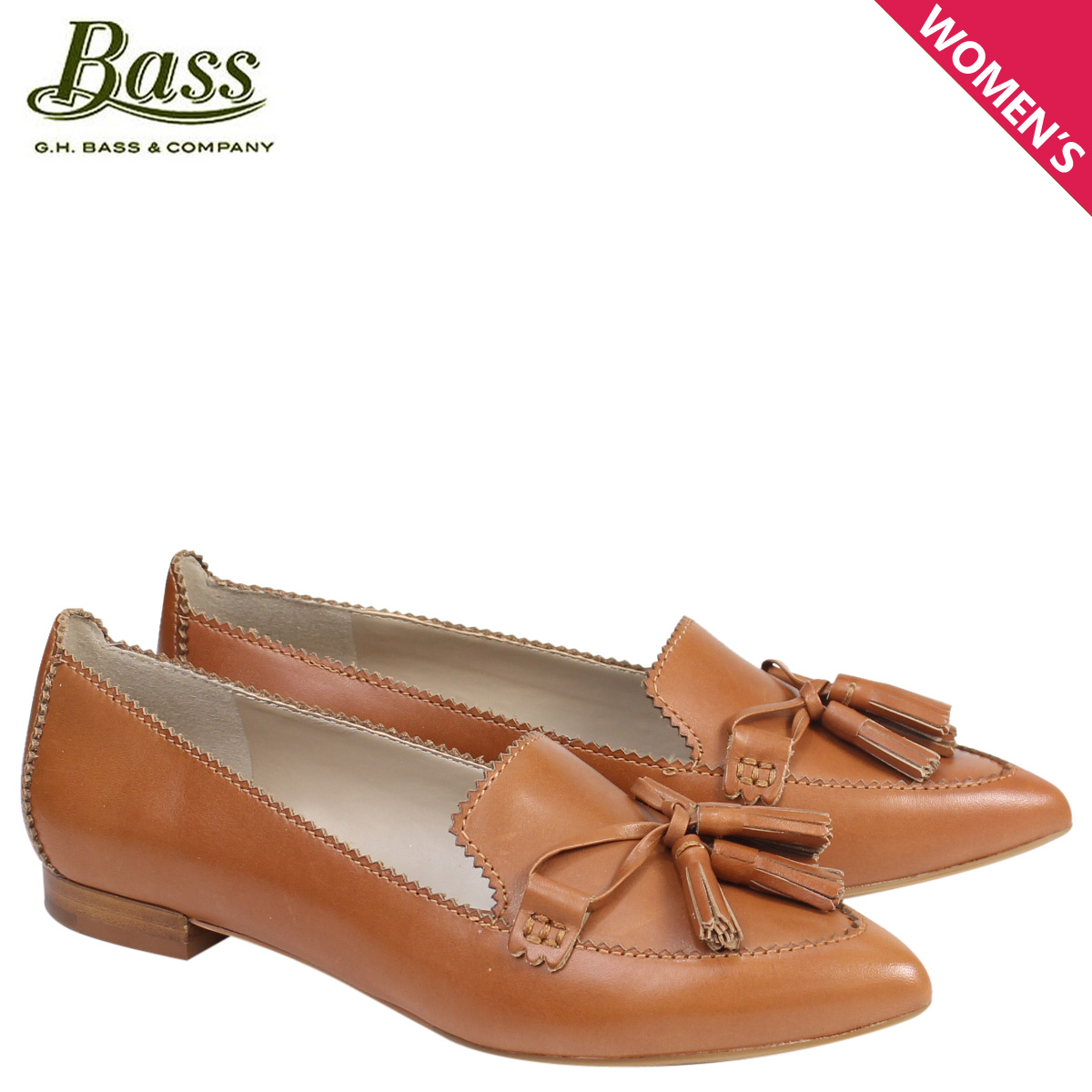 G.H. BASS ローファー ジーエイチバス レディース タッセル KELSEY TASSEL LOAFER 71-23438 靴 ブラウン