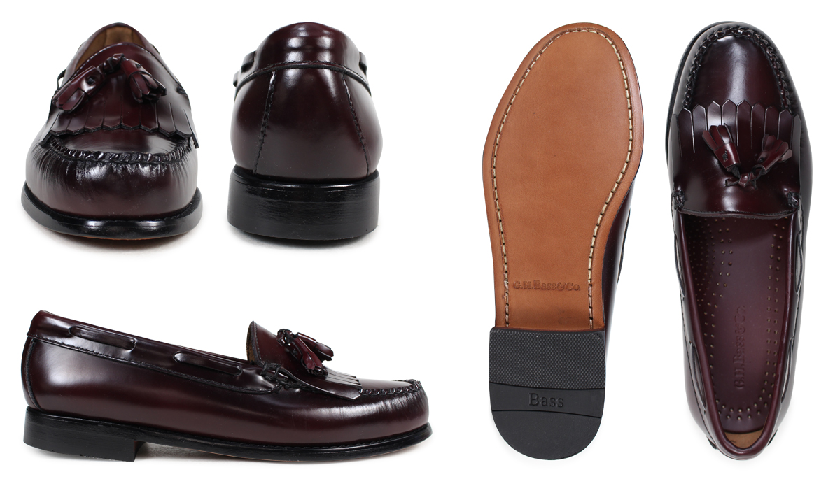 bcaef51087b  Black Burgundy  ジーエイチバス G. H. BASS Layton LAYTON TASSE LOAFER tassel  loafers D wise leather mens  1   14 Add in stock   regular