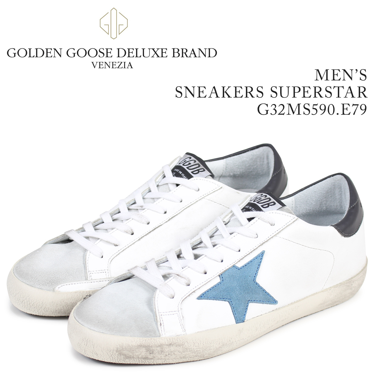 Golden Goose ゴールデングース スニーカー メンズ スーパースター SNEAKERS SUPERSTAR ホワイト G32MS590 E79 【決算セール 返品不可】