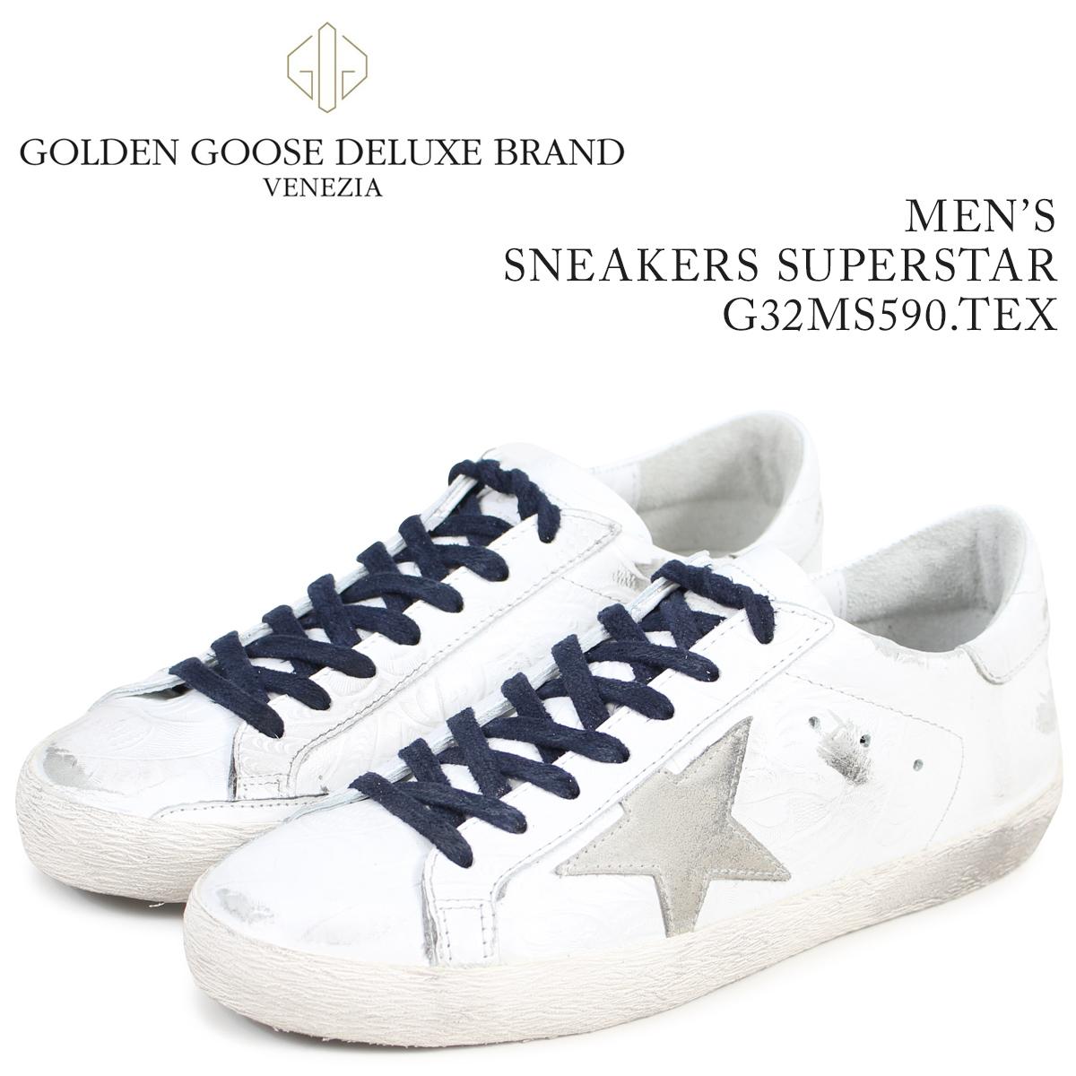 Golden Goose ゴールデングース スニーカー メンズ スーパースター SNEAKERS SUPERSTAR ホワイト G32MS590 TEX