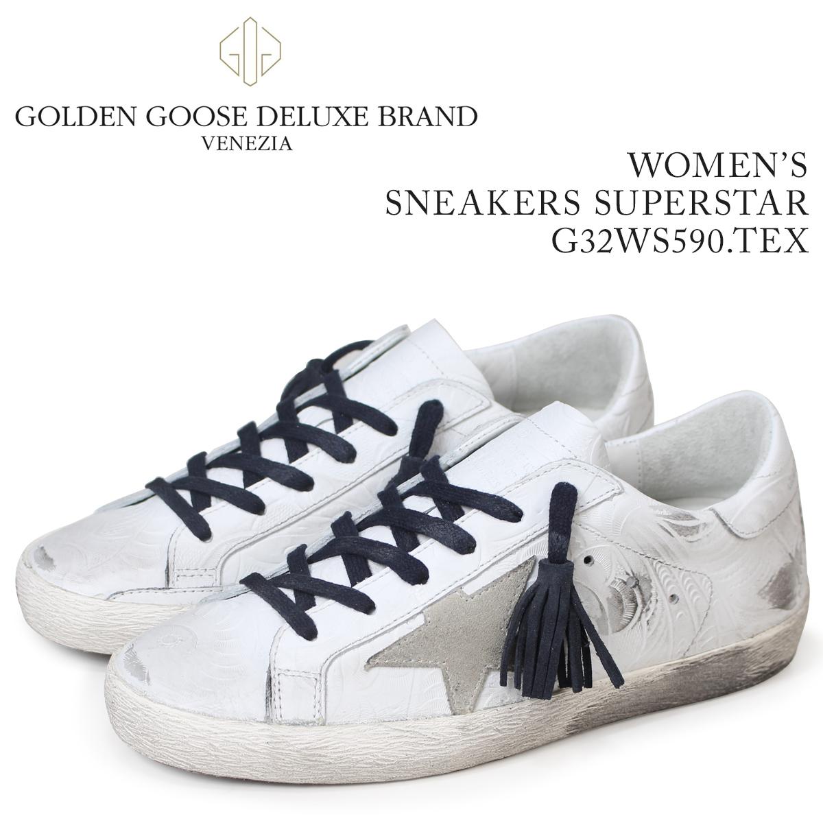 Golden Goose ゴールデングース スニーカー レディース スニーカーズ スーパースター SNEAKERS SUPERSTAR ホワイト 白 G32WS590 TEX