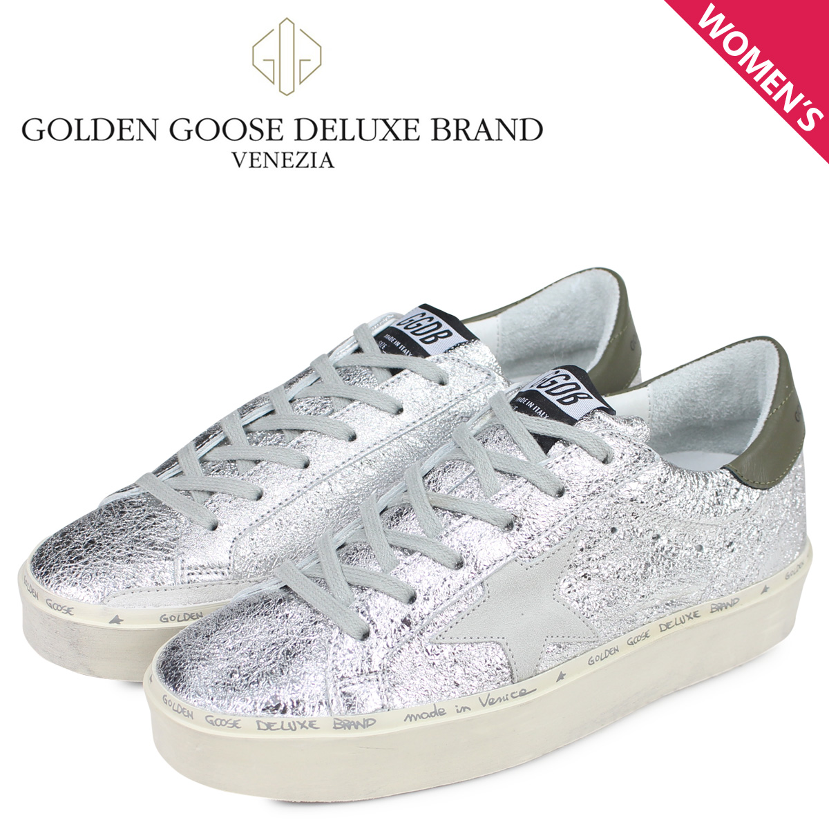 Golden Goose golden goose sneakers high star Lady's thickness bottom SNEAKERS HI STAR silver G34WS945 B5