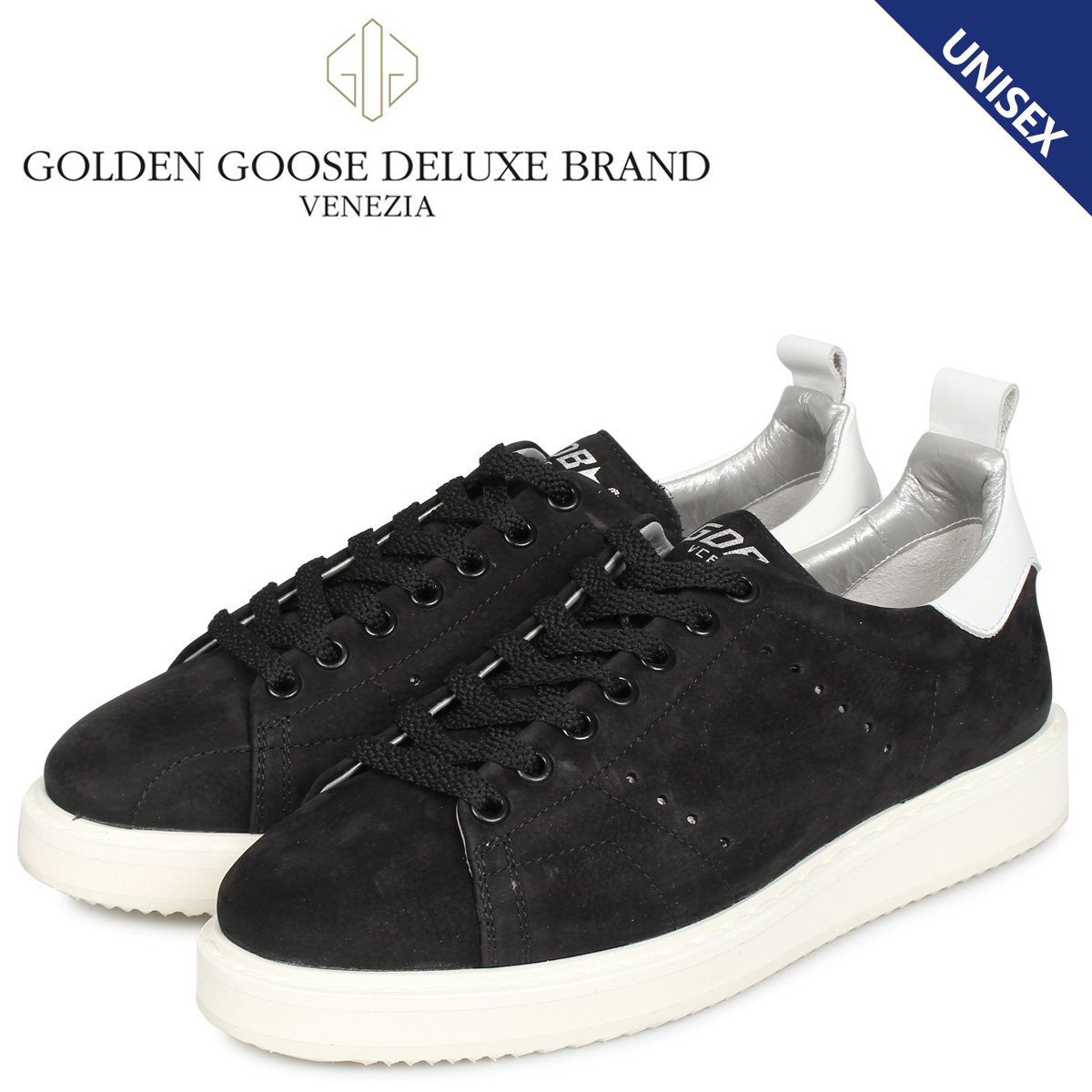 Golden Goose ゴールデングース スターター スニーカー メンズ レディース STARTER ブラック 黒 G35WS631 R1