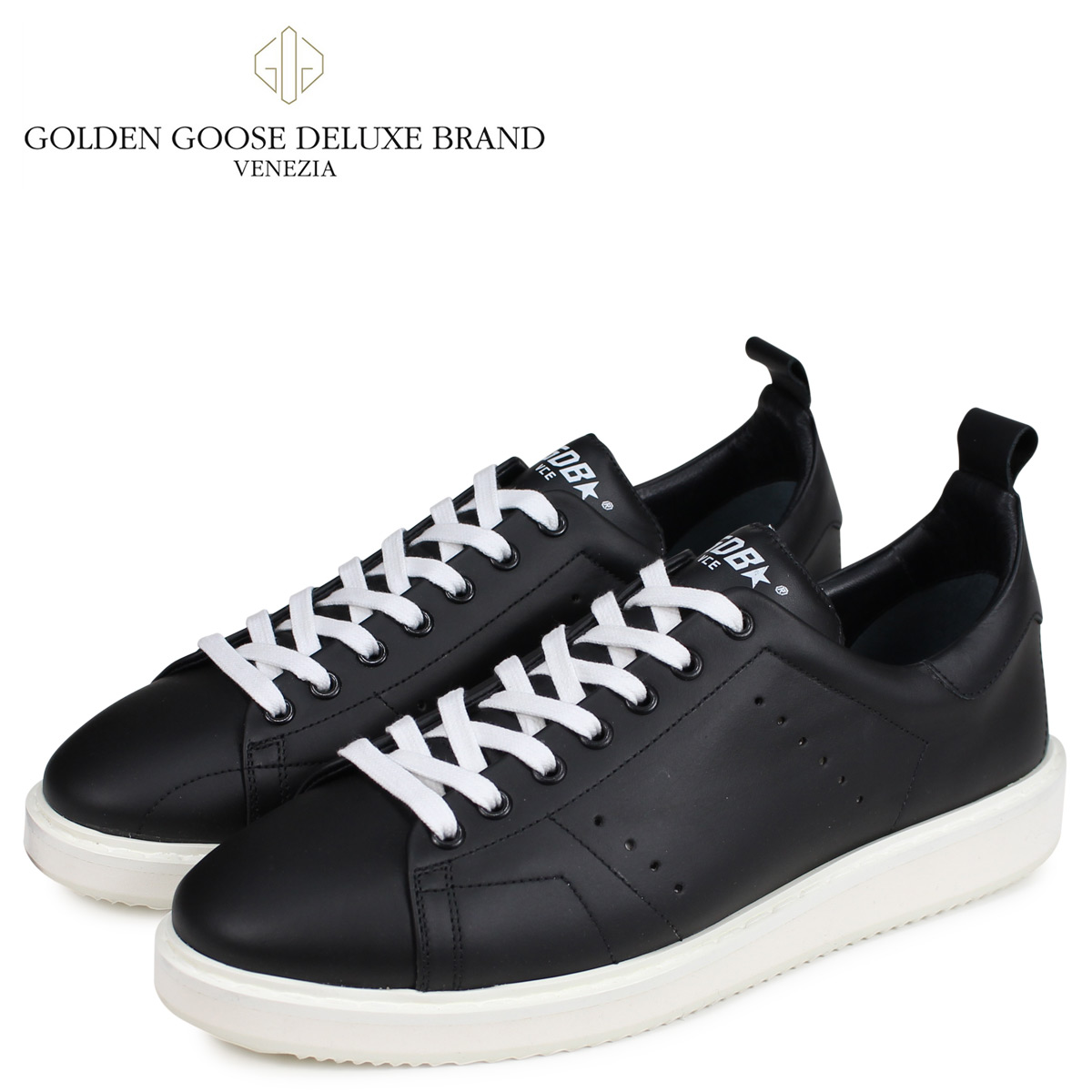 Golden Goose ゴールデングース スニーカー メンズ スターター SNEAKERS STARTER ブラック 黒 GCOMS631 A4