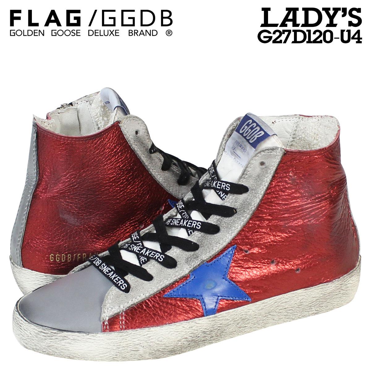 Golden Goose ゴールデングース スニーカー レディース FRANCY イタリア製 G27D120 U4 靴 レッド 赤 グレー
