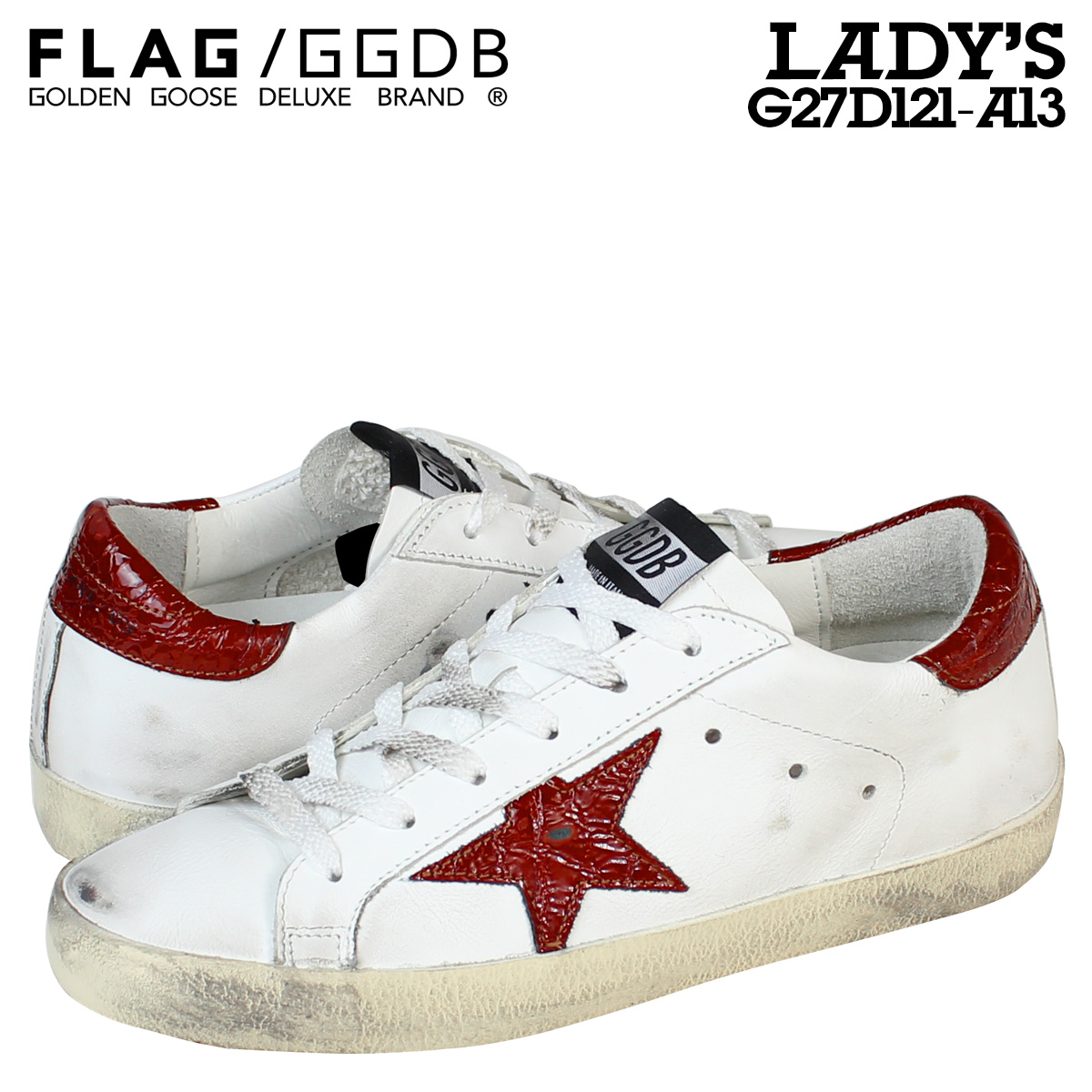 quality design eafde e5c9c G27D121 A13 shoes white white made in golden goose Golden Goose sneakers  Lady's SUPER STAR Italy