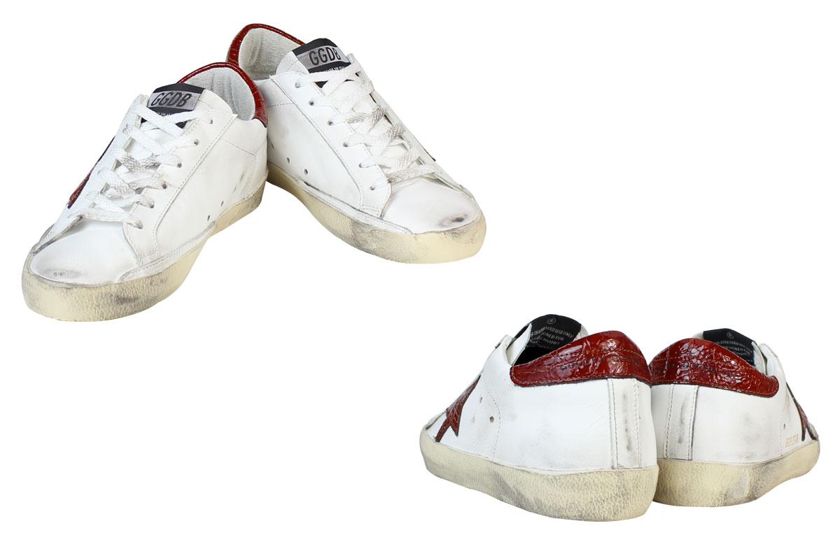 这金鹅妇女超级明星运动鞋巨星作在意大利 G27D121 A13 白色棕色