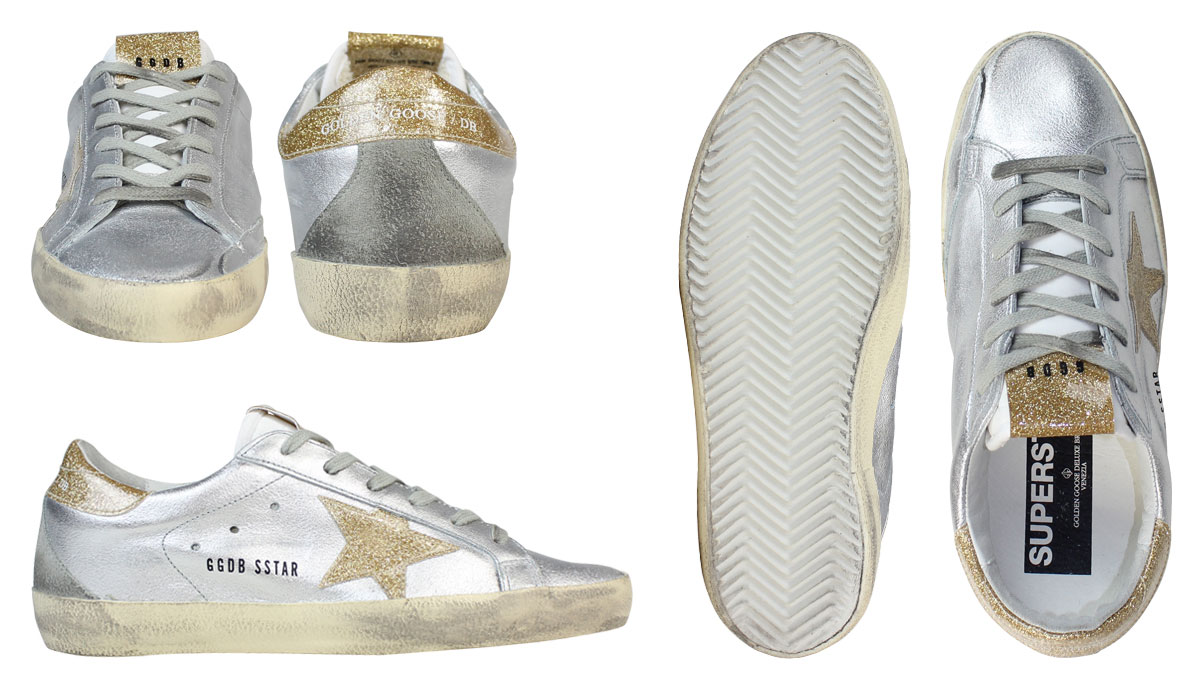 5cc3bb3fe7 Golden goose Golden Goose SUPER STAR sneakers superstar MADE IN ITALY  G27D121 A26 silver gold Lady's