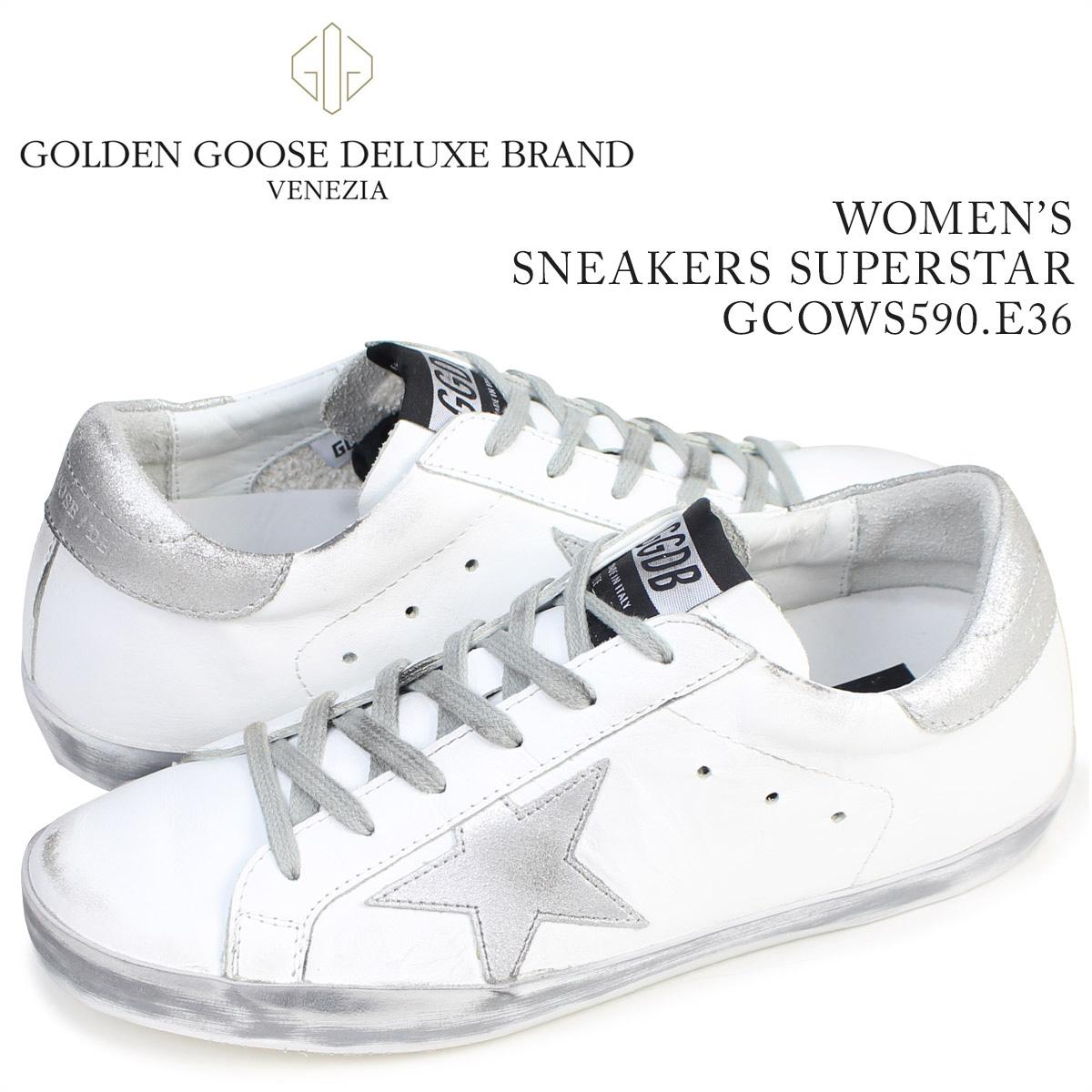 Golden Goose ゴールデングース スニーカー レディース スーパースター SNEAKERS SUPERSTAR イタリア製 GCOWS590 E36 靴 ホワイト 白 [3/4 再入荷]