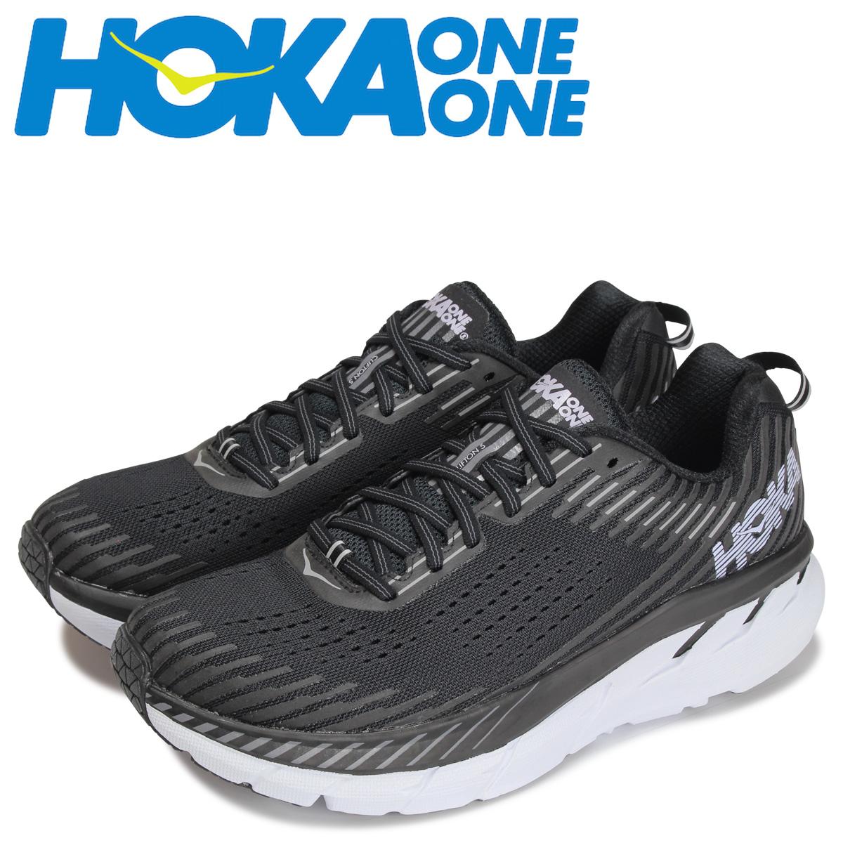 ホカオネオネ HOKA ONEONE クリフトン 5 スニーカー メンズ 厚底 CLIFTON 5 ブラック 黒 1093755