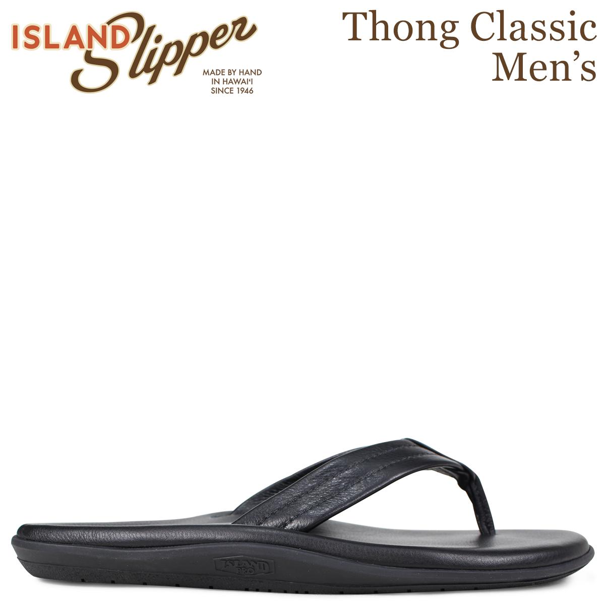 ISLAND SLIPPER アイランドスリッパ クラシック サンダル トングサンダル メンズ レザー THONG CLASSIC ブラック 黒 PB202