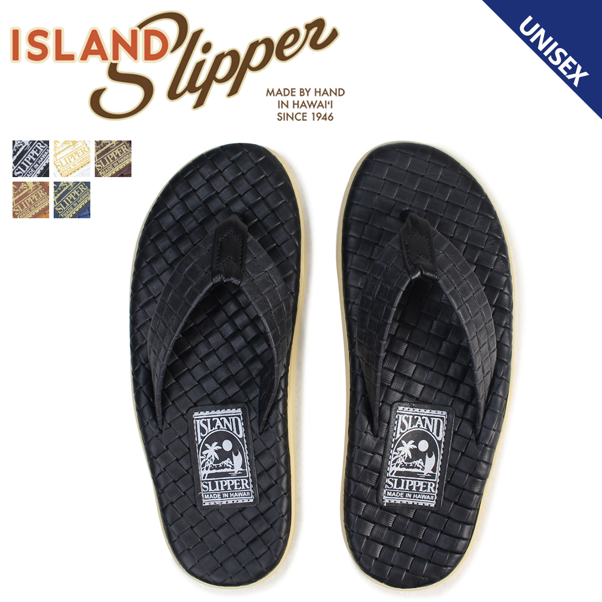 ISLAND SLIPPER アイランドスリッパ サンダル トングサンダル メンズ レザー ITALIAN WEAVE PT202SAS