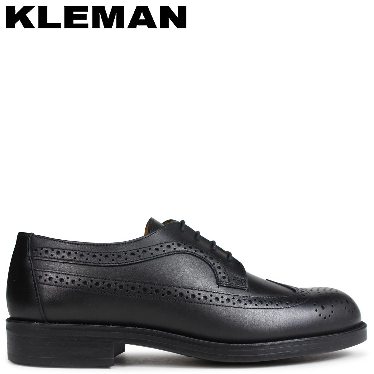 クレマン KLEMAN SUFOLO 靴 ウイングチップ シューズ メンズ WING TIP SHOES ブラック VA75102 [4/3 追加入荷]