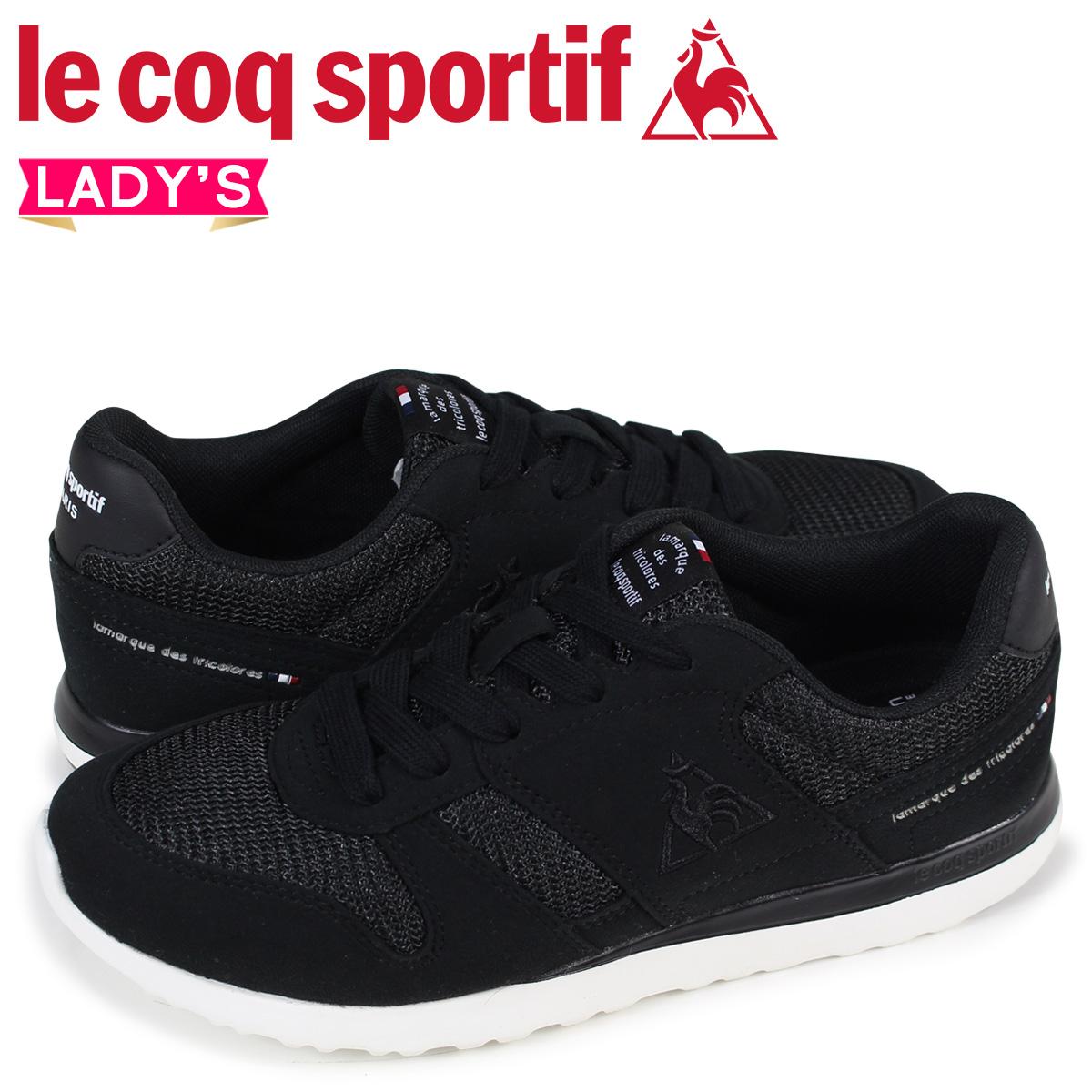 le coq sportif ルコック スポルティフ スニーカー レディース LA セーヌ SEINE ブラック 黒 QFM-7303BB:シュガーオンラインショップ