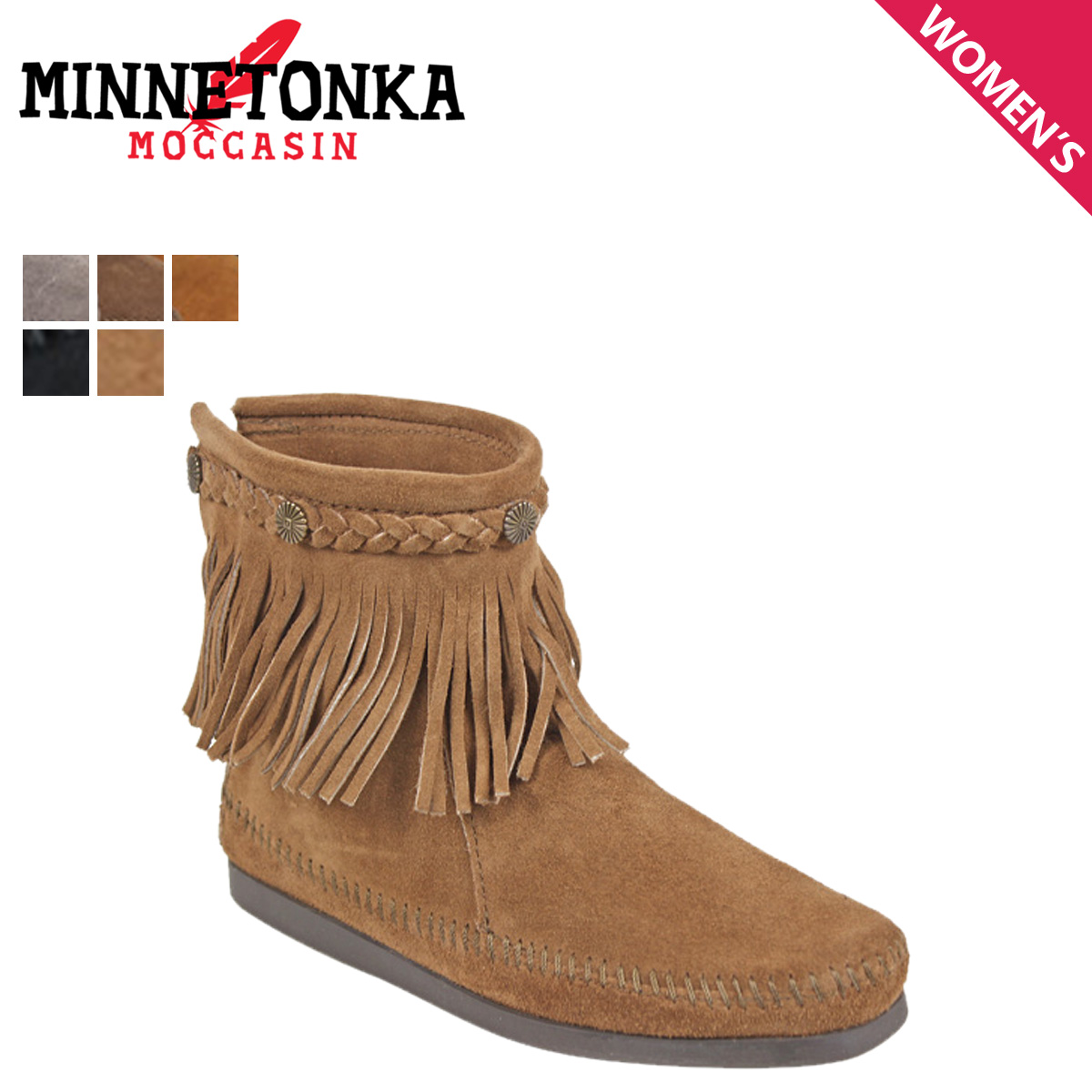 ed42b1a91788 «Reservation products» «10   29 days stock» Minnetonka MINNETONKA Hi top  back zip boot HI TOP BACK ZIP BOOTS suede ladies suede. «