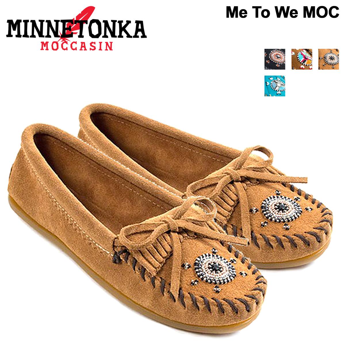 Sugar Online Shop | Rakuten Global Market: Minnetonka moccasins Womens MINNETONKA MOC MOC Me To We collaborated Brown [book product 11 / 29 days in stock new stock plan]
