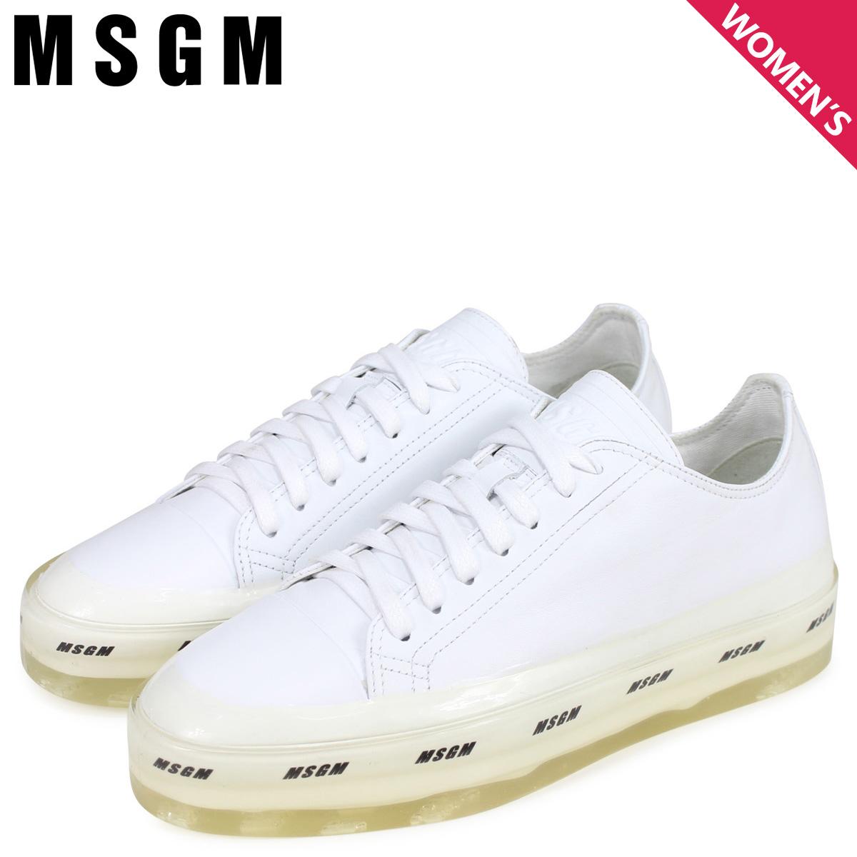 エムエスジーエム MSGM スニーカー レディース OVERSIZED LOGO SOLE ホワイト 白 2641MDS724 160 01 [3/6 新入荷]