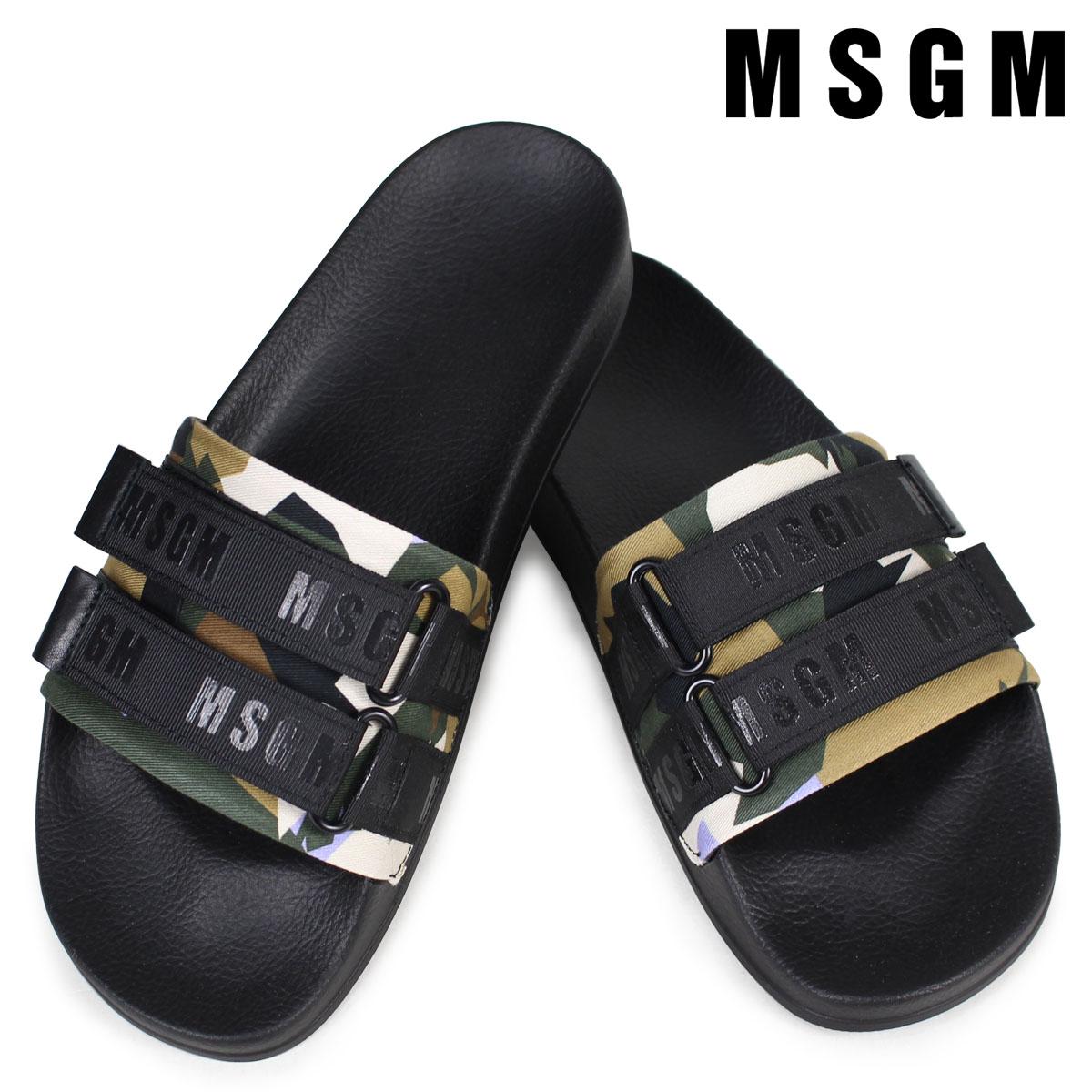 エムエスジーエム サンダル メンズ MSGM シャワーサンダル SHOWER SANDALS 2440MS105 320 ブラック 黒