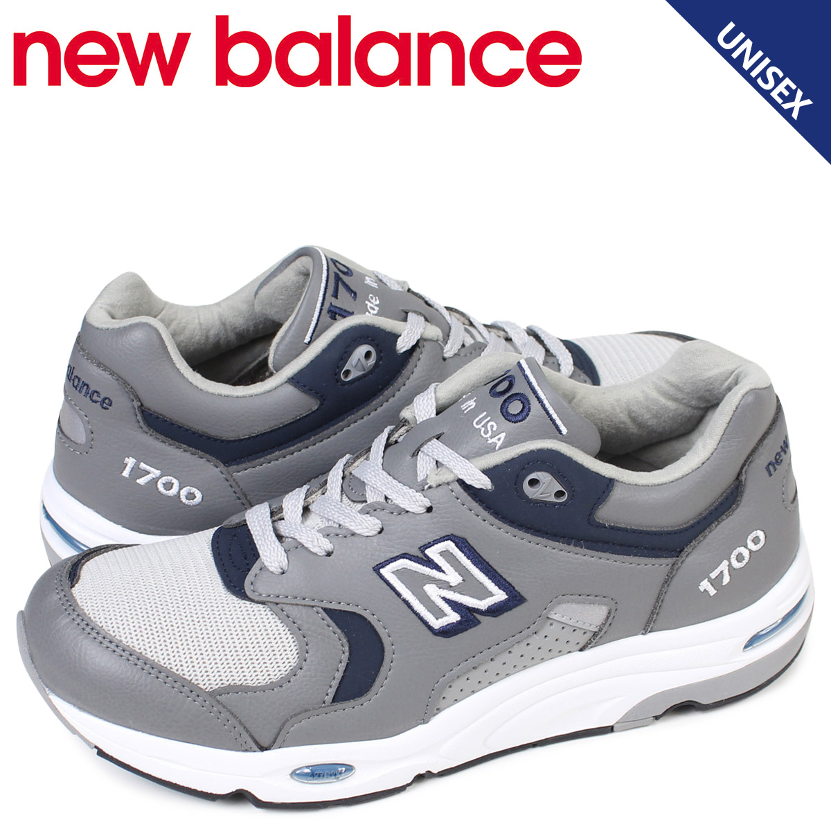 new balance 1700 men's lady's New Balance sneakers M1700GRA D Wise MADE IN USA gray