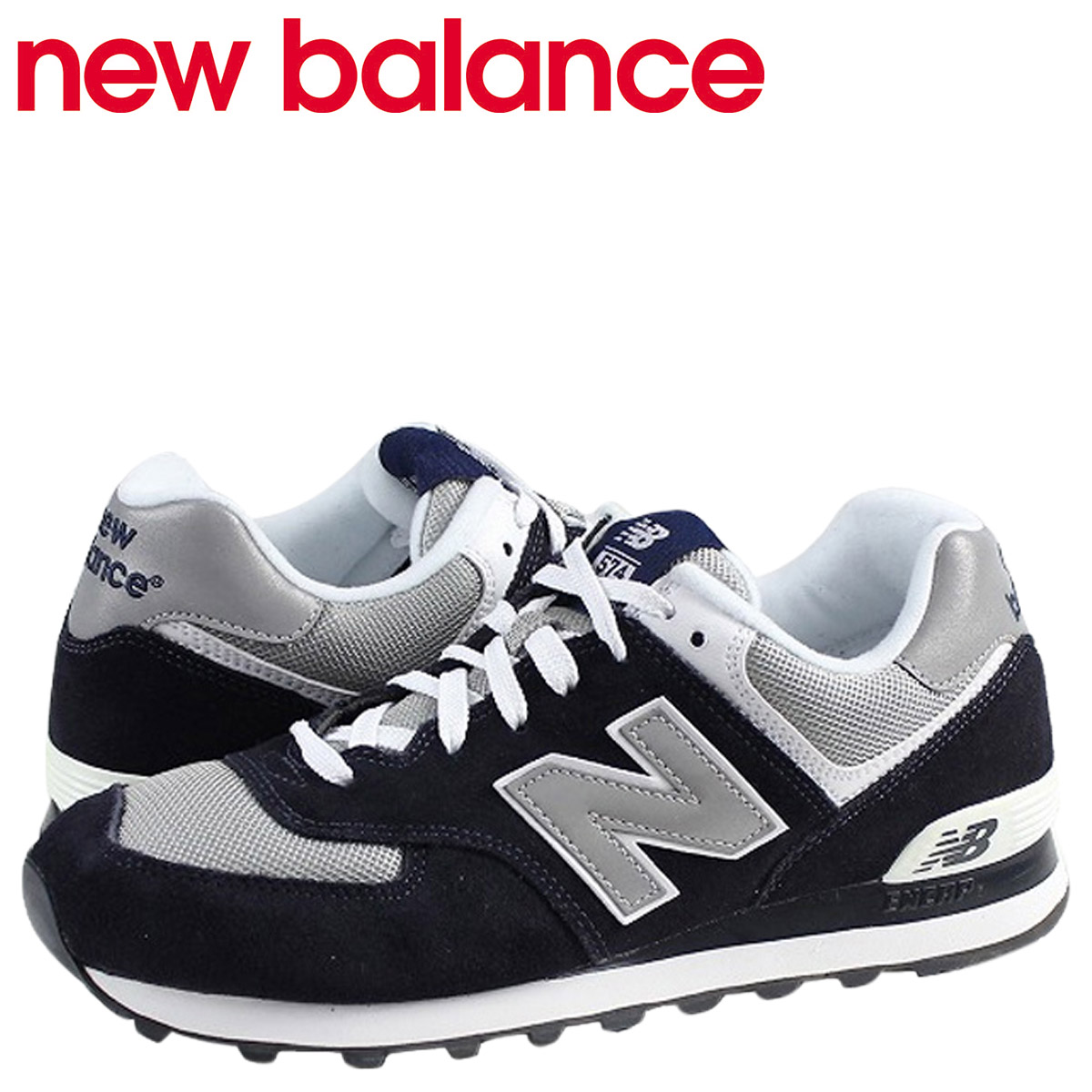 the latest 109f1 d2ecd new balance New Balance 574 sneakers M574BGS D Wise men shoes navy