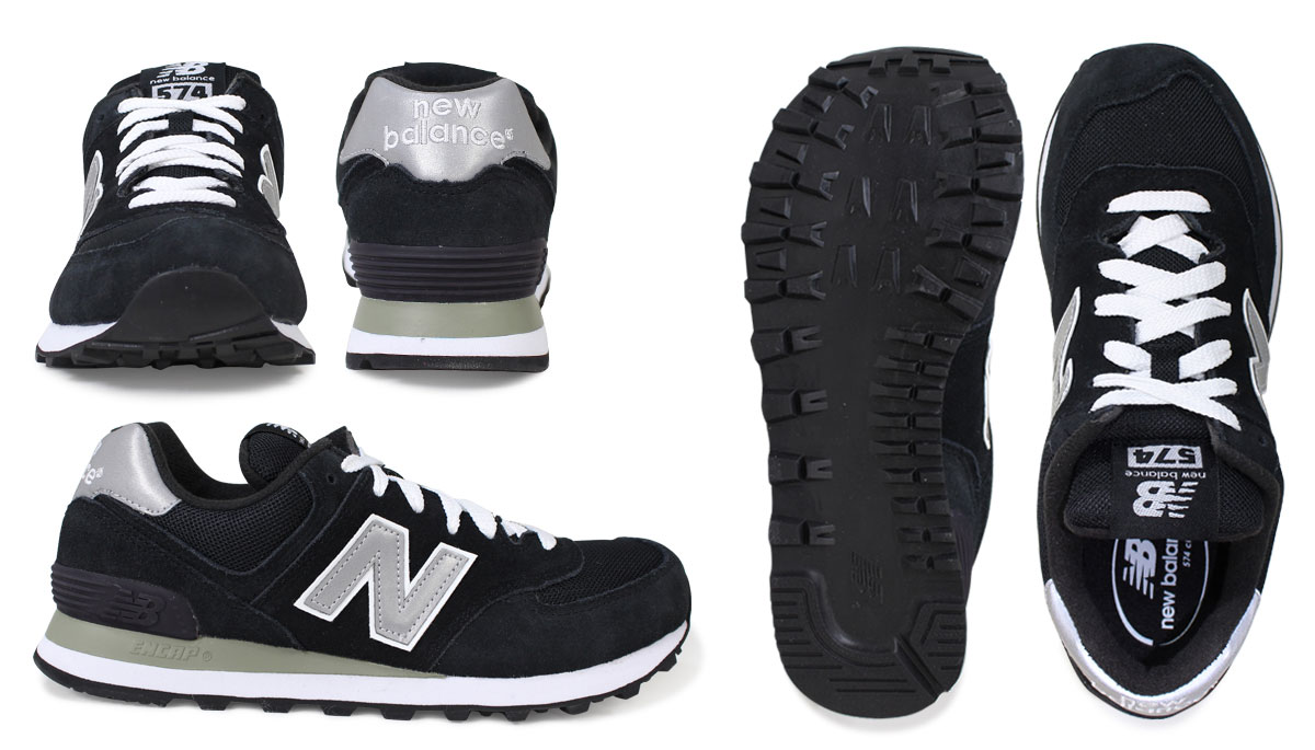 low priced b5313 26765 New Balance 574 men's lady's new balance sneakers M574NK D Wise shoes black  black
