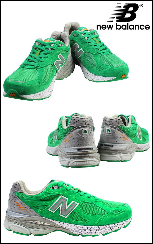 男子绿色新平衡new balance M990BA3 MADE IN USA运动鞋D怀斯反毛皮革×网丝[4/19新入货物][正规]★★