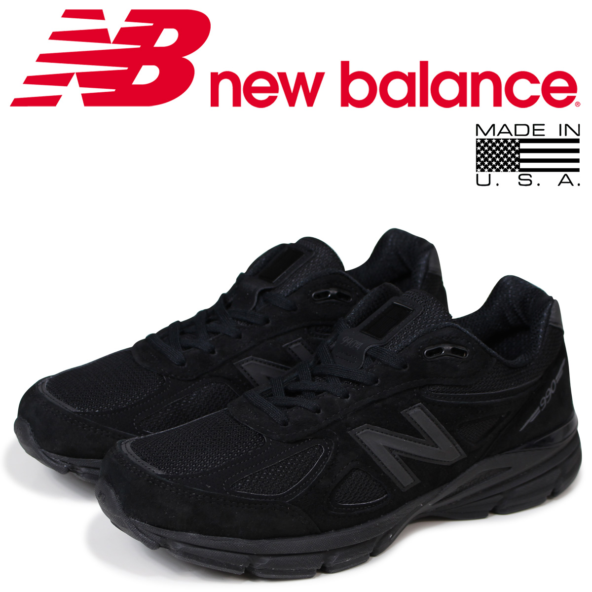 64a50d1689d new balance 990 men's New Balance sneakers M990BB4 D Wise MADE IN USA shoes  black black [the 8/16 additional arrival]