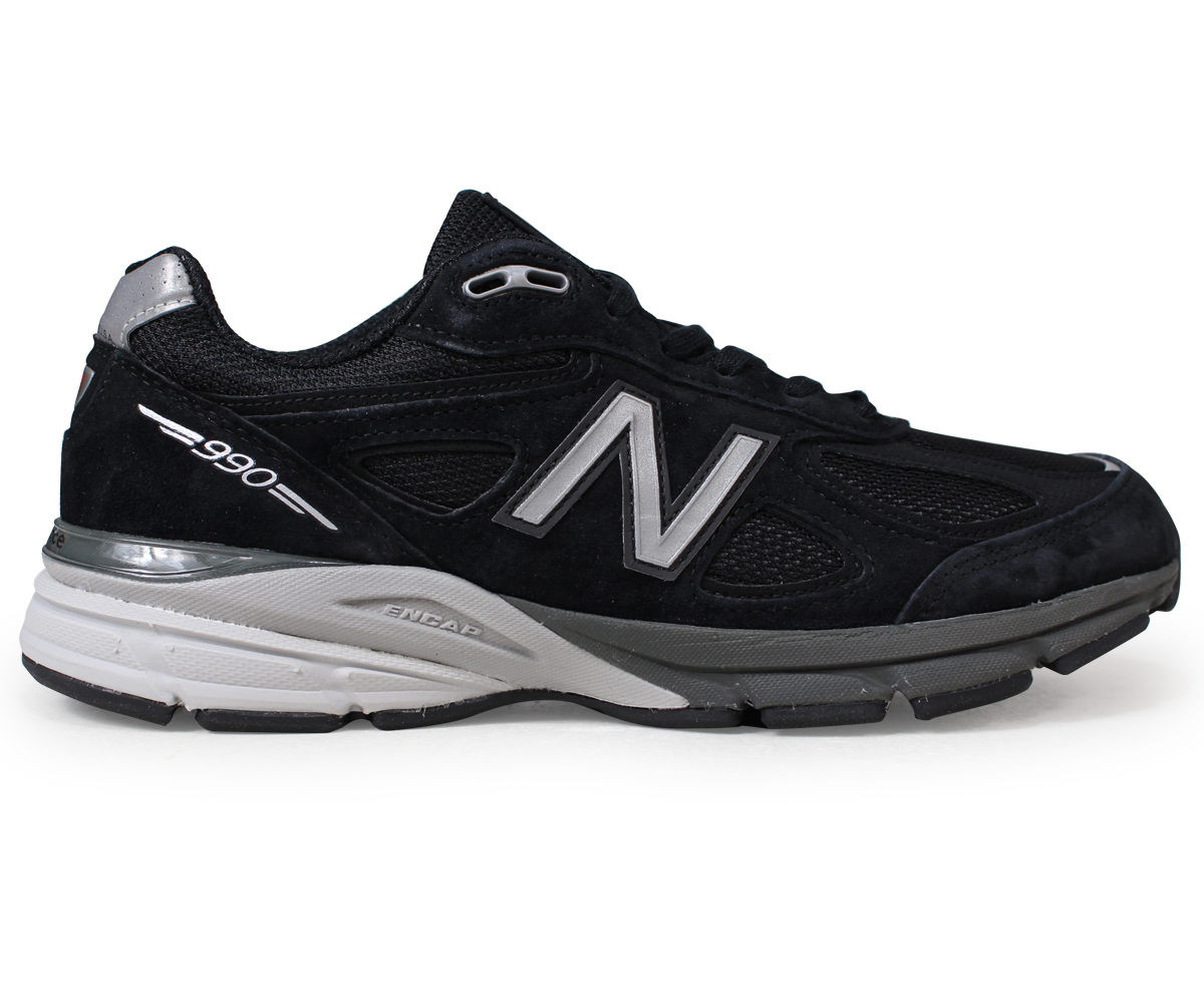 best service b577e 38edd new balance 990 men's New Balance sneakers M990BK4 D Wise MADE IN USA shoes  black black