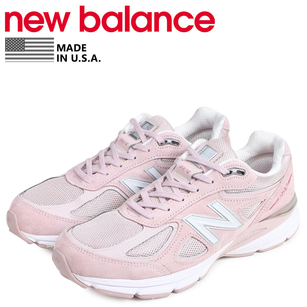 the best attitude c9e40 36f6e new balance New Balance 990 sneakers men MADE IN USA D Wise pink M990KMN4