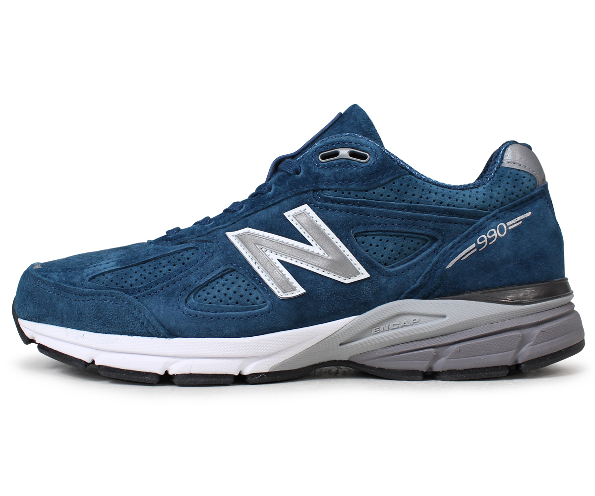 huge selection of 298a8 a58cc new balance 990 men's New Balance sneakers M990NS4 D Wise MADE IN USA blue