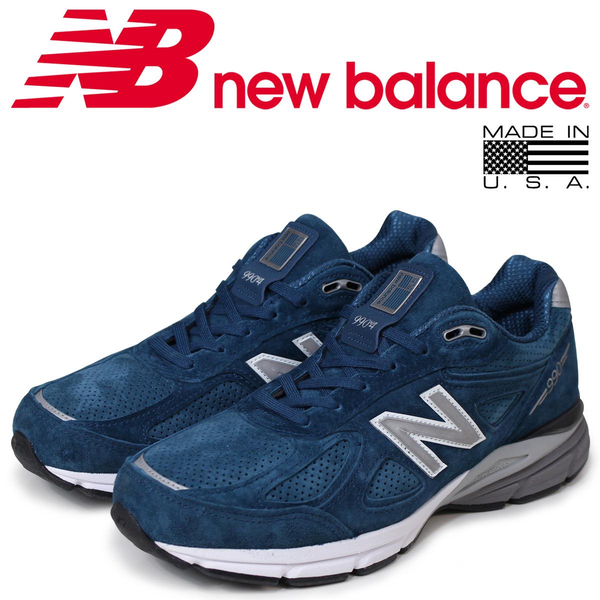 new balance 990 メンズ ニューバランス スニーカー M990NS4 Dワイズ MADE IN USA ブルー