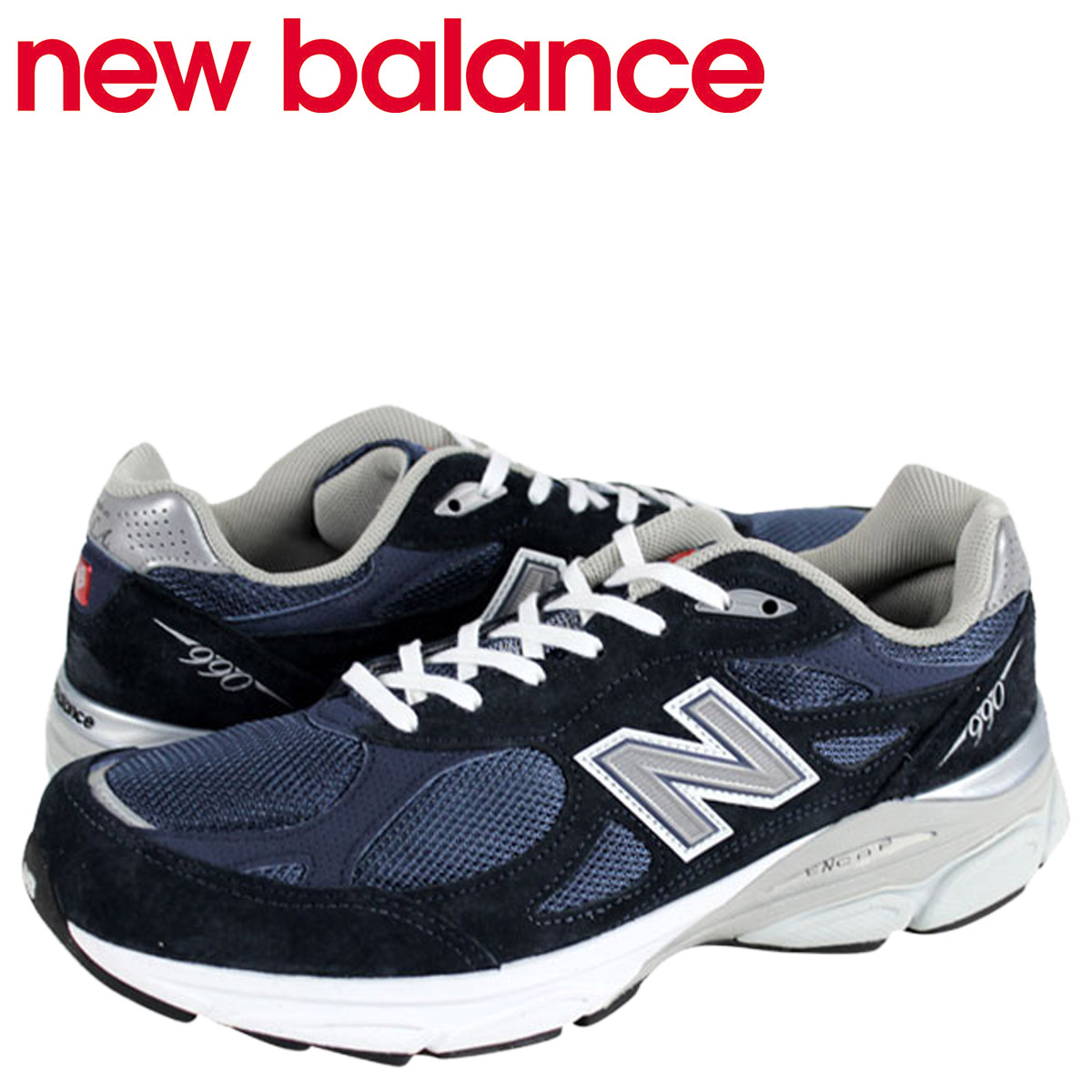 check out 342f4 261eb New Balance new balance 990 M990 NV3 MADE IN USA sneakers M990NV3 D Wise  men shoes navy