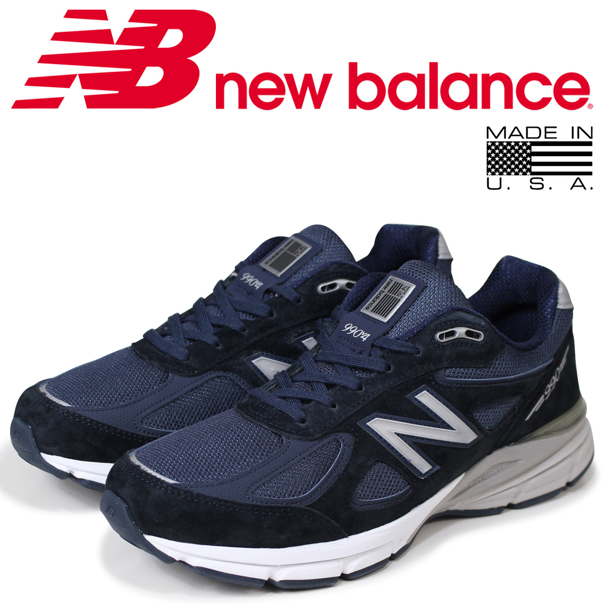 new balance 990 メンズ ニューバランス スニーカー M990NV4 Dワイズ 靴 ネイビー MADE IN USA