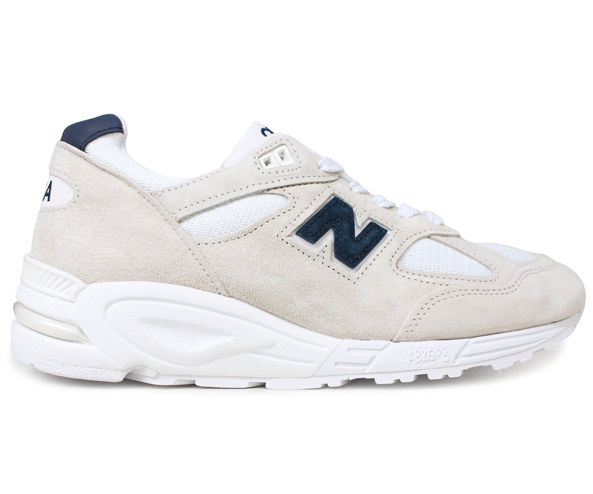premium selection bc327 5ba09 new balance 990 men's New Balance sneakers M990WE2 D Wise MADE IN USA  off-white white