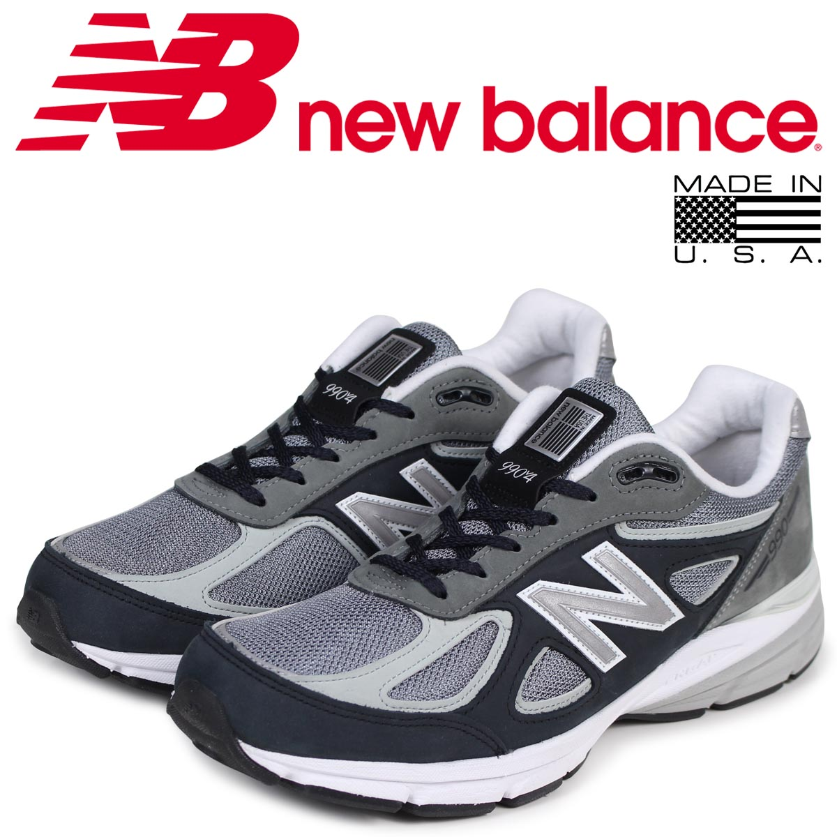 sale retailer 36c01 245f6 new balance 990 men's New Balance sneakers M990XG4 D Wise MADE IN USA gray