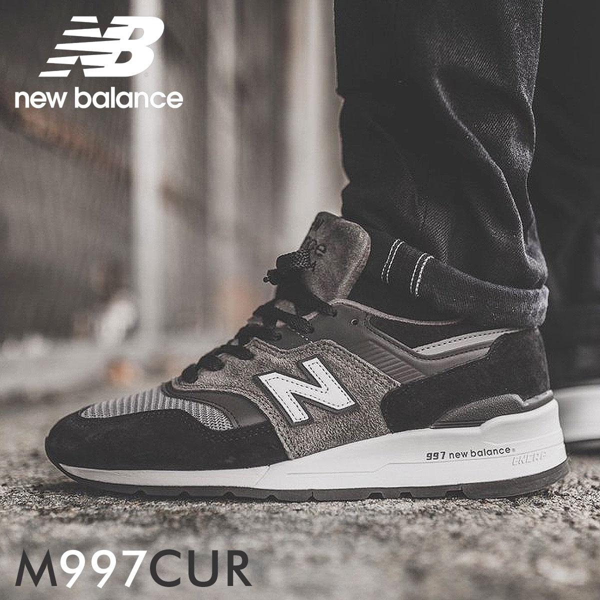 detailed images wholesale online buy popular new balance 997 men's New Balance sneakers M997CUR D Wise shoes black black