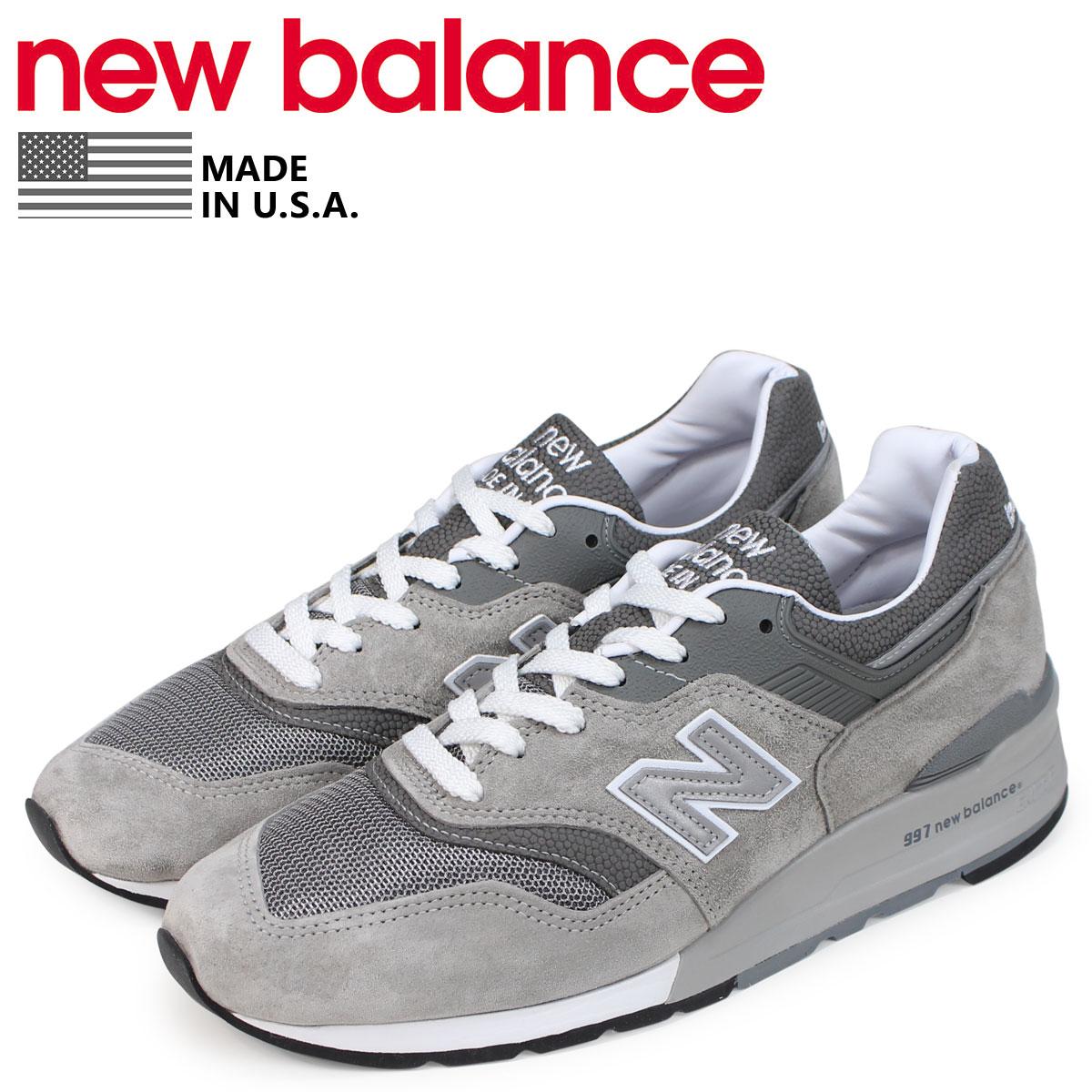 new balance ニューバランス 997 スニーカー メンズ Dワイズ MADE IN USA グレー M997GY