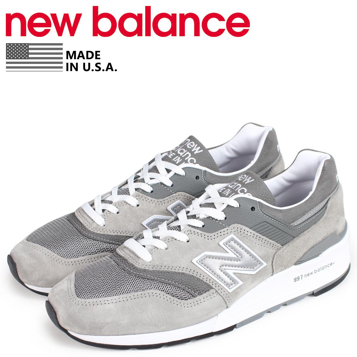 new balance 997 メンズ ニューバランス スニーカー M997GY2 Dワイズ MADE IN USA グレー [10/19 新入荷]