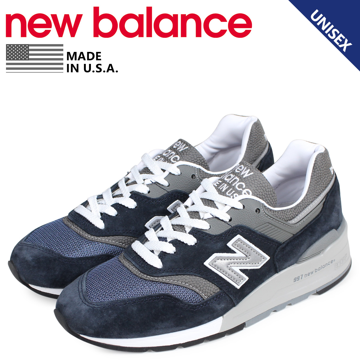 7292222c00988 new balance New Balance 997 sneakers men gap Dis D Wise MADE IN USA navy  M997NV ...