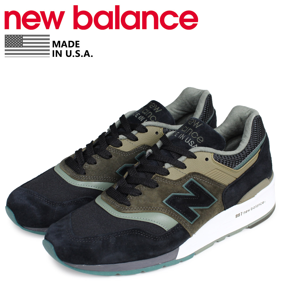 wholesale dealer 78459 41d56 new balance New Balance 997 sneakers men D Wise MADE IN USA black black  black M997PAA