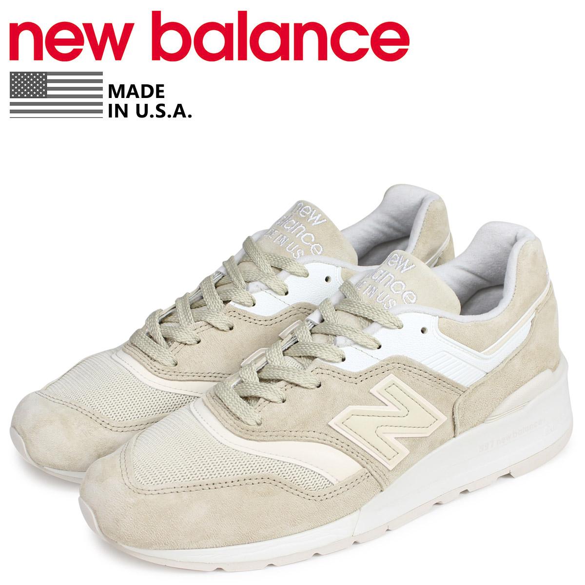 new balance ニューバランス 997 スニーカー メンズ Dワイズ MADE IN USA ベージュ M997PAB